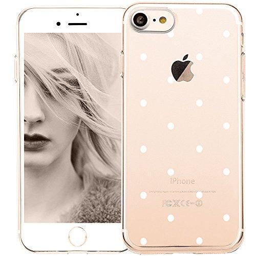 8466929cf907f8 COLOR Handyhülle für iPhone 7/iPhone 8 | Transparent silikon Hülle mit  Motiv weiße Punkte