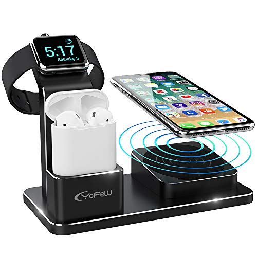 yfw apple watch ladestation 3 in 1 wireless charger f r iphone xs max xs xr x 8 8 plus 10w qi. Black Bedroom Furniture Sets. Home Design Ideas